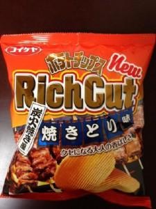 ポテトチップス リッチカット 焼きとり味