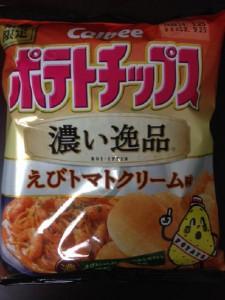 ポテトチップス 濃い逸品 えびトマトクリーム味