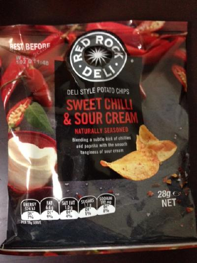 DELI STYLE POTATO CHIPS SWEET CHILLI & SOUR CREAM